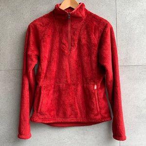 North Face Osito 1/4 zip pullover fleece, small
